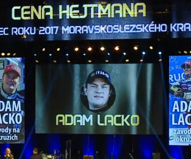Sportovcem roku 2017 se stal Adam Lacko
